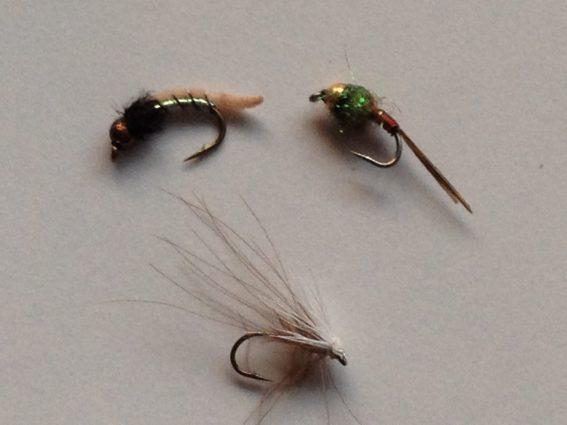 Three successful flies - Tongariro November 2014